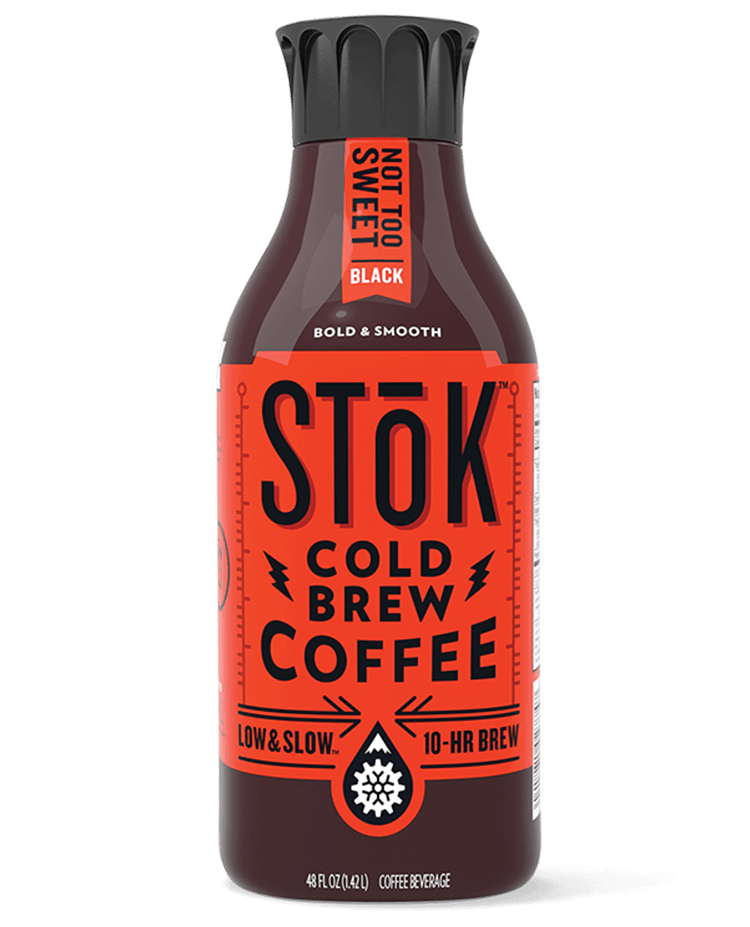 STōK Not Too Sweet Black Cold Brew Coffee 48 oz.