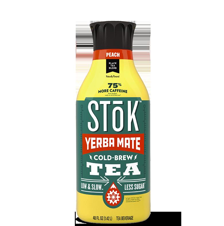 STōK Peach Black Cold Brew Tea with Yerba Mate