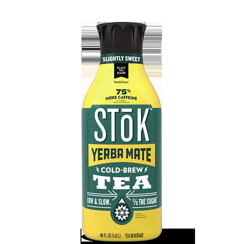 STōK Slightly Sweet Black Cold Brew Tea with Yerba Mate